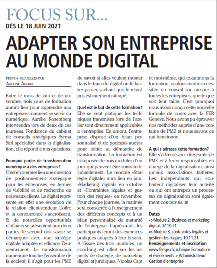 adapter son entreprise au digital